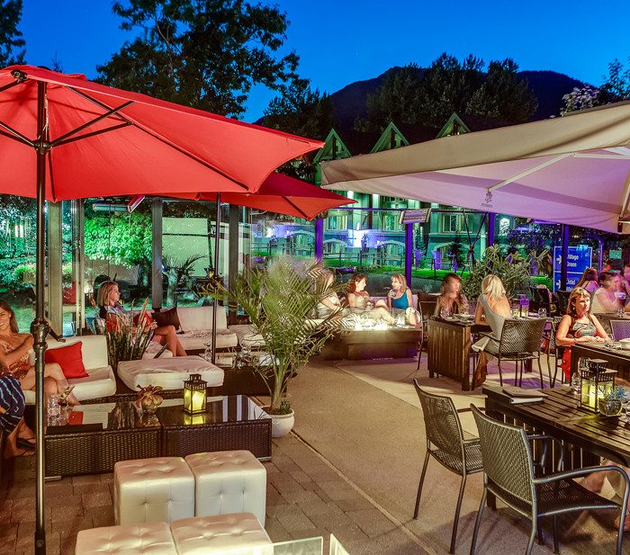 Bearfoot Bistro Patio at Night