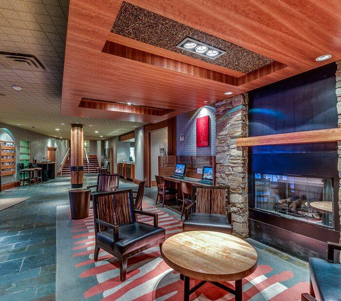 Lobby Fireplace Listel Whistler